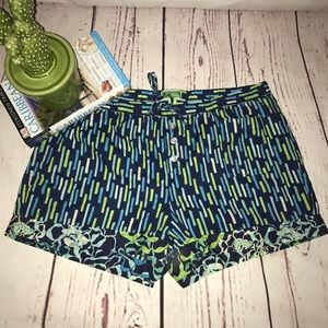 VERA BRADLEY PAJAMA SLEEP SHORTS MEDIUM BLUE